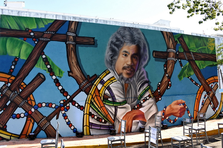 Ministerio de Cultura develiza mural en homenaje póstumo al legendario músico Johnny Pacheco
