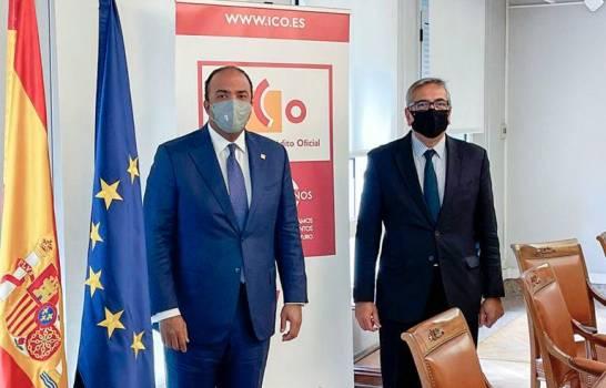 Administrador de Banreservas se reúne con gobernador del Banco de España