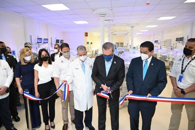 El Presidente Abinader entrega bloque materno infantil y consulta externa de la Ciudad Sanitaria Luis Eduardo Aybar